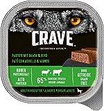 CRAVE Comida húmeda Cordero y Vacuno para Perros, sin Cereales, con Alto Contenido en proteínas, 10 x 300 g