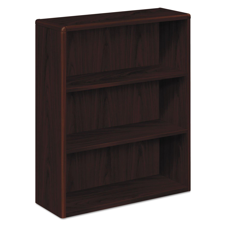 HON 10753NN 10700 Series Wood Bookcase, Three Shelf, 36w x 13 1/8d x 43 3/8h, Mahogany