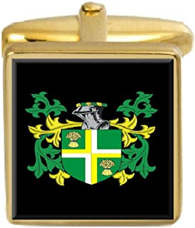 Select Gifts Gary Ireland Family Crest Coat Of Arms Heraldry Cufflinks Box Set Engraved