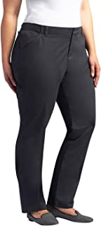 LEE Women's Plus Size Midrise Fit Essential Chino Pant