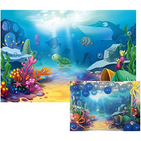 Backdrops for Diving Themed Underwater World Holiday Party Photo Booth Photocall Summer Birthday Decorations Sun and Coral FT3918