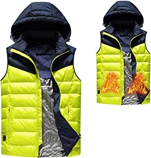Softshell Hoodie Heated Jacket,Winter Warm Gilet,one Button Heating, Three Temperature Adjustments,Suitable for Cold Winter Outdoor Activities,Four Colors Optional