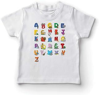 comprar comparacion lepni.me Camiseta para Niño/Niña Alfabeto Inglés, Diseño de Canciones ABC, Aprendizaje de Letras, Regreso a la Escuela o R...