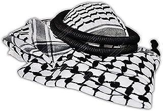 Bethlehem Gifts TM Authentic Middle Eastern Arab Kafiya Keffiyeh w Aqel Rope
