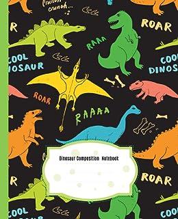 Cute Dinosaur Composition Notebook: Wide Ruled Paper Notebook Journal