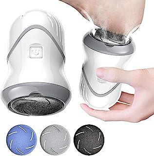 Tixiyu Elektrische voetvijl eeltverwijderaar, vacuümadsorptie voetslijper pedicure gereedschap met 3 rolkoppen, USB oplaad...