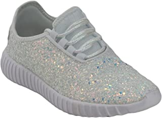 Best white glitter sneakers Reviews
