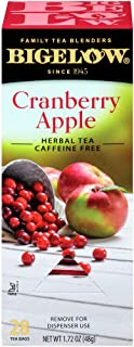 Bigelow Cranberry Apple Herbal Tea Bags 28-Count Box (Pack of 1) Cranberry Apple Hibiscus Flavored Herbal Tea Bags All Nat...
