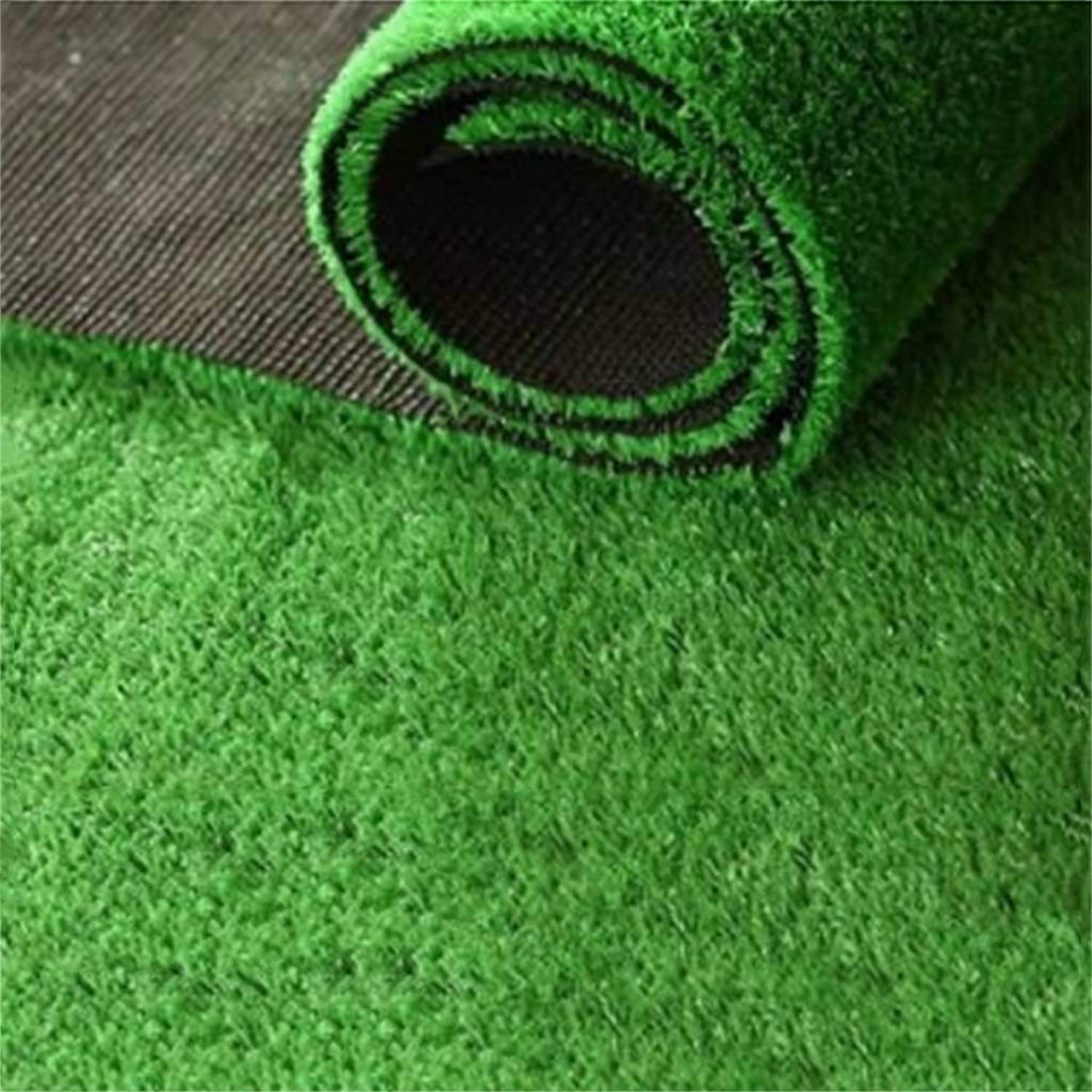Artificial Grass Outdoor Green Encryption Thickening Fake Lawn Dog Pet Garden Neat Lush Green 15mm Pile 1m  2m (Size   3x1m)