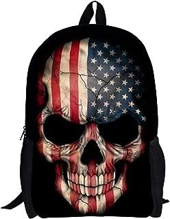skull school backpack