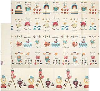 Q Baby Play Mat, XPE Baby Play Mat 150X200X1CM Play Mat Baby, Cartoon Bear Play Mat For Baby for Bedroom Living Room Games...