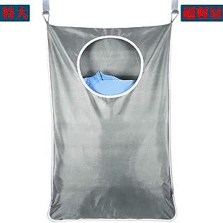 Bgood ウォールポケット、ランドリーバッグ 、 壁掛け収納 、ランドリーバスケット、 ランドリーかご 、洗濯ボックス 、ドア収納(銀)
