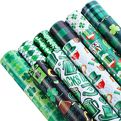 12 Pieces St. Patrick's Day Faux Leather Sh...