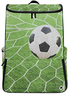 Soccer Ball Goat Travel Backpack 17 Inch Laptop Duffel with Shoes Compartment for Men Women