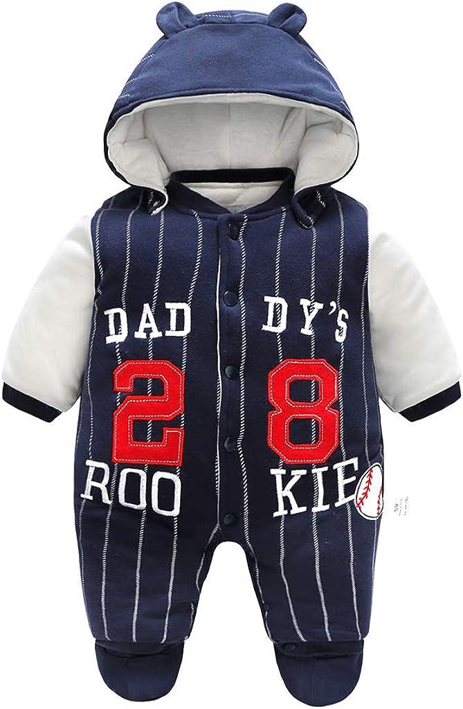 DDY Baby Schneeanzug mit Kapuze Warm Strampler Overall Winter Onesies 3-6 Monate Outfits Oberbekleidung f/ür Baby Junge M/ädchen