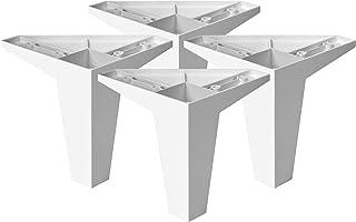 4un. Pata Inclinada pie mueble nórdico escandinavo en plastico ABS ANTIHUMEDAD color blanco