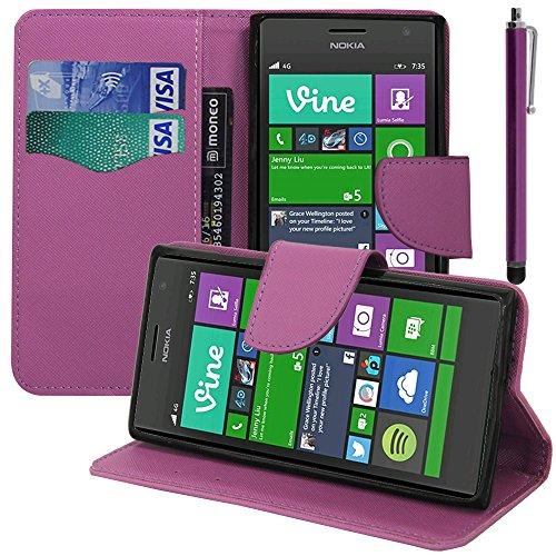 VComp-Shop - Custodia in plastica per Nokia Lumia 735/730 Dual SIM + grande pennino capacitivo + pellicola protettiva per lo schermo in omaggio