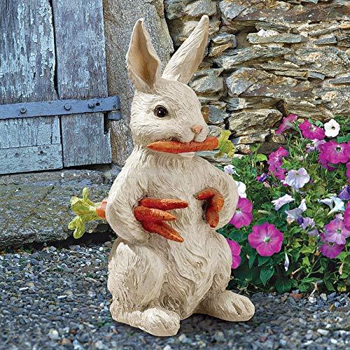 Huaji Caroteen het konijn konijn tuin standbeeld hars beeldhouwkunst ornament voor buiten tuin decoratie