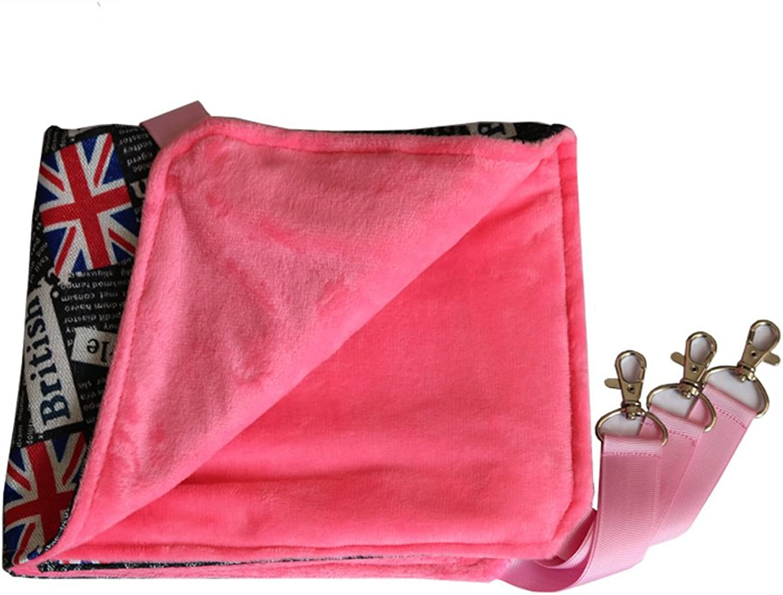 Pet Bunk Bed Hammock, bluee Pink Brown (color   Pink)