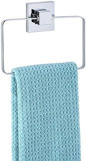 WENKO Vacuum-Loc® handdoekring Quadro roestvrij staal - handdoekhouder, handdoekstang, roestvrij staal, 18,5 x 14 x 3,5 c...