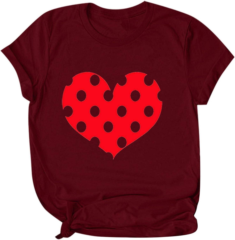 Moxiu Men Fashion Valentines Day Shirts Couple Lover Print Short Sleeve Tops Blouse
