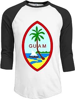 Guam Summer Island Men 3/4 Sleeve Raglan Tops Shirt Design Top