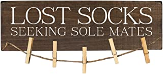 Best Lost Socks Sign Seeking Sole Mates Laundry Room Decor Wooden Reviews