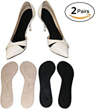 Silicone High Heel Inserts for Women Wear Boots Pumps Flats,Fannel Shoe Insoles,No Slip,Self Adhesive,Relief Pain Blister Callus Corns (2 Pairs)