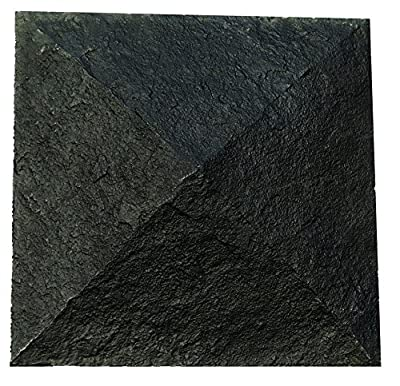 "NextStone Sandstone Column Wrap Cap 18"" x 18"" Onyx"