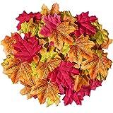 Hojas artificiales de arce en colores de otoño, de la marca Ztsy, 100 unidades
