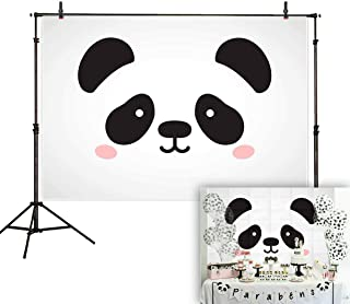 Allenjoy 7x5ft Giant Panda Backdrop Girl or Boy Gender Neutral Baby Shower Party Decorations Toddlers Kids Birthday Event Supplies Welcome Banner Pictures Photography Background Photo Booth Props