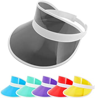 ZOWYA Transparent Sun Visor Hat for Women Men Plastic Clear Visor Caps Beach Golf Tennis Sports Cap 1 Pack