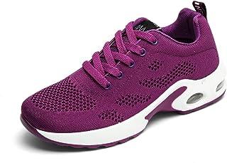 VWMYQ Womens Tennis Shoes Running Sneakers Ladies Air Cushion Memory Foam Lightweight Gym Athletic Purple 6.5