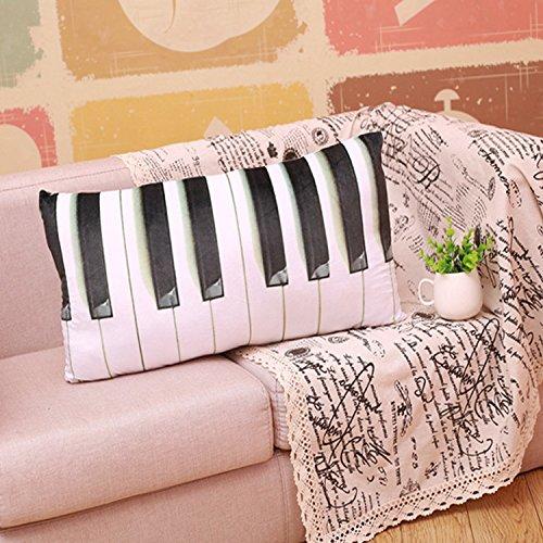 LTL LUOTIANLANG stofftiers Piano Tastatur Kissen schlafsofa Kissen Kissen Auto Exquisite Dekorationen inneneinrichtungsgegenstände, plan,65 * 32 cm