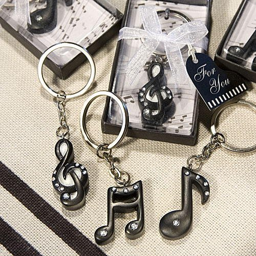 Musical Note Keychains: Music Wedding Favors, 144