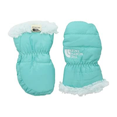 The North Face Kids Reversible Mossbud Swirl Mitt (Infant) (Mint Blue/Origin Blue) Extreme Cold Weather Gloves