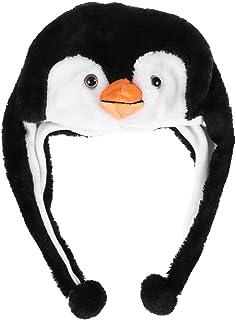 BESTOYARD Plüsch-Hut mit Ohrenklappe, Pinguin-Design, für Kinder und Erwachsene