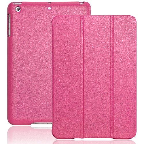 INVELLOP iPad Mini case, Hot Pink Leatherette Case Cover for Apple iPad Mini/iPad Mini 2/iPad Mini 3 (Hot Pink)