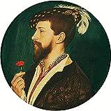 AMANUO Holbein Impresiones Pinturas Famosas sobre Lienzo Retrato 60X60 cm...