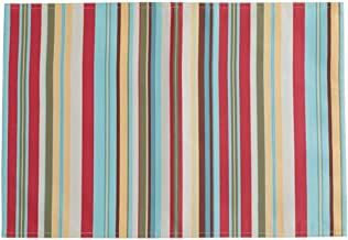 Design Imports Warm Summer Stripe Table Linens Double-Sided Indoor Outdoor Placemat 13-Inch by 19-Inch