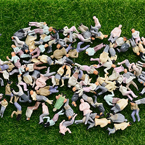 MEJOSER 100 STK Sitzende Modelleisenbahn Figuren H0 1:87 Figuren Modellbau Miniaturen (100 STK sitzende Figuren )