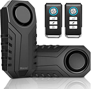 $31 » Wsdcam Bike Alarm with Remote 2 Pack, 113dB Wireless Anti-Theft Vibration Motorcycle Bicycle Alarm Waterproof Vehicle Secu...