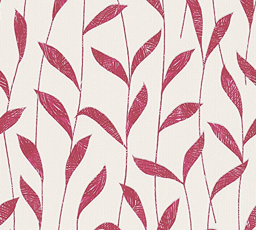 Esprit Home Vliestapete Urban Spring Tapete floral 10,05 m x 0,53 m rot weiß Made in Germany 302792 30279-2