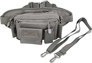 Oleander Tactical Cintura Pack Nylon Pesca Trastos Fanny Bolsa Hombro Carry Hip Pack Correa Gear Bag para la Caza Escalada Senderismo Camping