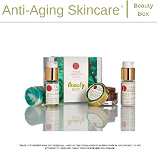 True North Beauty Box - Skincare Set Travel Size Solid Cleanser, Hydration Cream, Face Polish and Cleansing Oil with Chaga - Made with Natural and Organic Ingredients from Maine