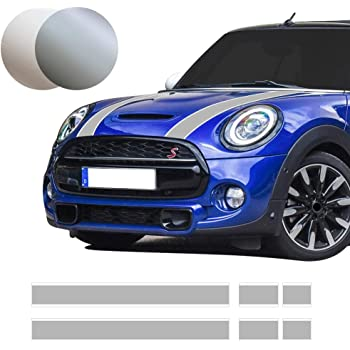 Decal Sticker Vinyl Body Racing Stripe Kit Compatible with Mini Cooper S JCW Hatch 2000-2016