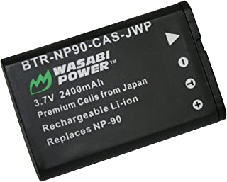 Wasabi Power Battery for Casio NP-90 and Casio Exilim EX-FH100, EX-H10, EX-H15, EX-H20G