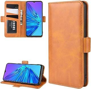 林についてはOPPO Realmeは5財布財布&ホルダー&カードスロット付きレザー携帯電話ケースをスタンド(ブラック) HDJ (Color : Yellow)