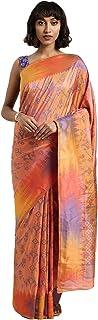Indian Saree for Women Ethnic Sari Peach Ikkat Art Silk Sari with Unstitched Blouse. ICW2778-4