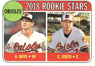 2018 Topps Heritage #66 Chance Sisco/Austin Hays RC Rookie Card Orioles